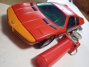 Schuco Servo BMW Turbo Servo Plastic/Electric 1:12 (Germany) Red/Orange NIB