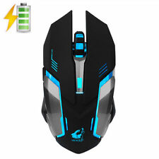X7 Rechargeable 2.4GHz Wireless Silent LED Light USB Ergonomic Gamer Mouse Black