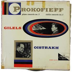 PROKOFIEFF Emil Gilels / David Oistrakh LP 1956 Westminster XWN 18178 Prokofiev