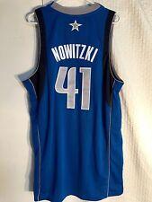 Adidas Swingman NBA Jersey Dallas Mavericks Dirk Nowitzki Blue sz 2X