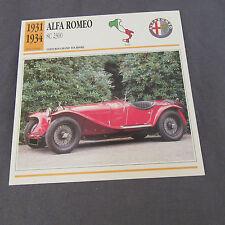 476C Edito Service Fiche Dépliant Alfa Romeo 8C 2300