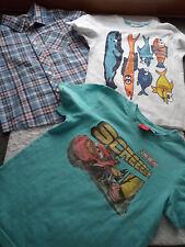 *Disney Cars u.a.* 2 T-Shirts Junge + Hemd kurzarm Gr. 110 116
