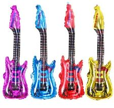 """4 X Electric Guitar Foil Balloons 85cm 36"""" Birthday Party Decoration"""