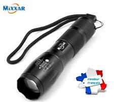 Lampe torche LED XML-T6 puissante avec zoom MIXXAR chasse pêche randonnée
