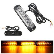 6 LED Car Truck Strobe Flash Light Emergency Warning Flashing Lamp Yellow Amber