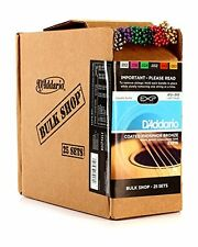 D'Addario Coated Phosphor Bronze Acoustic Guitar Strings, Light, 12-53, 25 Sets