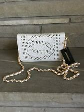 BEBE LOGO HOLLY CROSSBODY PURSE CLUTCH MSRP$78 BRAND NEW BEAUTIFUL BRIGHT WHITE