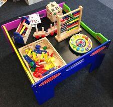 Melissa & Doug Deluxe Baby Toddler Wooden Activity Table Kids Montessori Toys