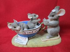"""Charming Tails 89/601 """"Fragile, Handle with Care"""" Fitz & Floyd W/ Tag"""