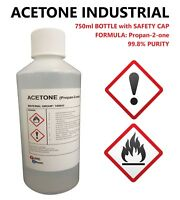 ACETONE 99.8% PURITY - FALSE NAIL REMOVER - SOLVENT DEGREASER - 750ml BOTTLE