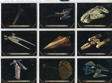 Star Wars Galactic Files 2018 Complete Vehicles Chase Card Set V1-10