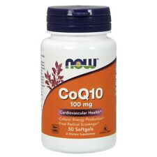 Now Foods CoQ10 100 mg - 50 Softgels FRESH, FREE SHIPPING, MADE IN USA