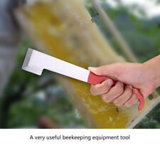 Stainless Steel Beekeeping Tool J Shape Red Curved Tail Bee Hive Hook Scraper