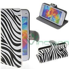 Custodia booklet ZEBRATA p Samsung Galaxy S5 mini G800F STAND portafoglio tasche