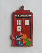 PINS DISNEY FANTASY PIN LILO KISS STITCH POLICE BOX #3 RED