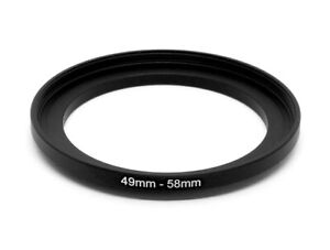49-58mm Metal Step Up Ring Lens Adapter from 49 to 58mm Filter Thread UK SELLER