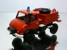 KIT built (?) MERCEDES BENZ UNIMOG FIRE ENGINE - RED 1:43 - GOOD CONDITION