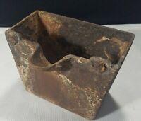 Vintage Unmarked Refinery Smelting Cast Iron Bucket Pot Blacksmith Spout