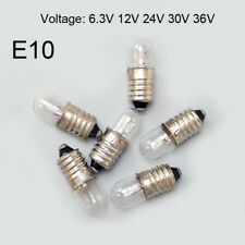 E10 Instrument Signal Indicator 6.3/12/24/30V 1.5/2/3/5W Warning Screw Bulb Lamp