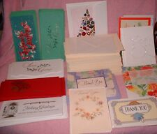 OVER 5 POUND BOX OF GREETING CARDS XMAS MONEY HOLDERS CHRISTMAS CARDS THANK YOU+