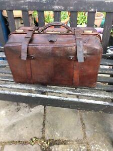 Vintage Leather Gladstone Bag