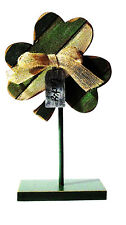 ST PATRICKS DAY WOODEN SHAMROCK DECORATION RUSTIC COLOR HAND MADE AND PAINTED