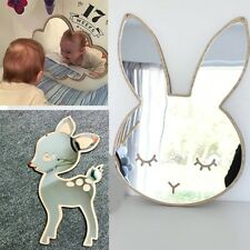 Children Cartoon Decorative Mirror Bathroom Baby Room Rabbit Star Wood Acrylic M