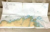 1987 Vintage Marittimo Mappa Francia Les Settembre Iles L' Ost Pic Old Admiralty