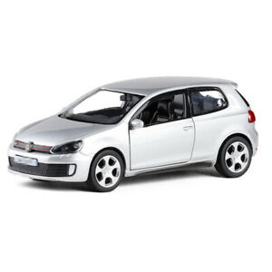 1:36 Scale VW Golf GTI Model Car Diecast Gift Toy Vehicle Kids Pull Back Silver