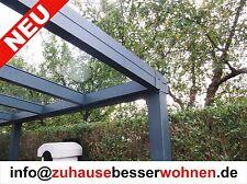 Terrassenüberdachung Alu Terrassendach vorbereitet für VSG Glas- ohne Glas 4x2,5