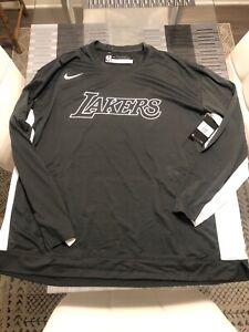 New Nike NBA Lakers Player Issued Warm Up Long Sleeve Shirt 2XL XXL AV0905-060