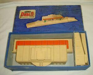 Hornby Dublo D1 THROUGH STATION Orange Roof - Boxed VGC