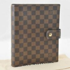 Authentic  Louis Vuitton Damier Agenda GM Day Planner Cover R20009 LV #SS646