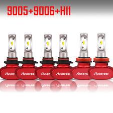 Autofeel 9005 9006 H11 LED Headlight + Fog Light Bulbs Combo Kit 6500K 24000LM
