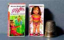 Dollhouse Miniature 1:12  Giggles Doll Box   1960s dollhouse girl nursery