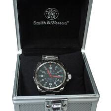 Smith&Wesson Herren Armbanduhr Modell Emissary Swiss Tritium Leder+Edelstahlband