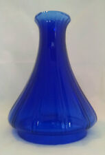 USA MADE NEW REPLACEMENT ANGLE LAMP CHIMNEY TOP COBALT BLUE GLASS      ELBOW