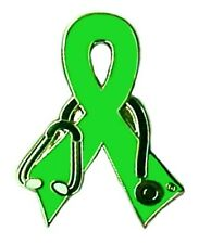 Support Ribbon Doctor Stethoscope New Lime Green Awareness Pin Lyme Disease