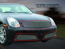 Fits 2005-2006 Infiniti G35 4 Door Sedan Billet Grille Grill Combo