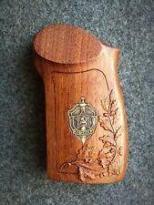 Makarov pistol, kgb made of brass, wooden handles