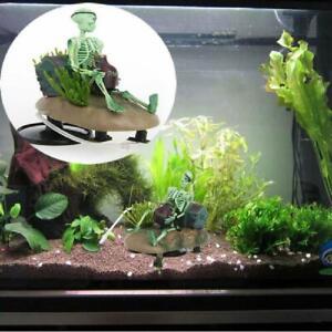 Drunk Skeleton Fish Tank Ornament Aquarium Air-operated Landscape Decoration