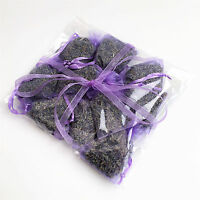 10 High Quality Fresh Lavender in Hand Made Lilac Organza Bags - GIFT WRAPPED