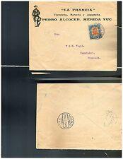 s1255 MEXICO Adv Cover La Francia Ferreteria, Merceria y Jugueteria 1913 Merida