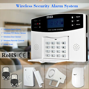 433MHz Wireless LCD GSM SMS Home Burglar Security Alarm System APP Control O8D9
