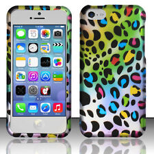Apple iPhone 5C Rubberized HARD Protector Case Snap Phone Cover Multi Leopard