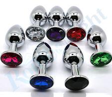 Plug Random Colors Metal Mini butt style rosebud Stainless Steel Crystal Jewelry