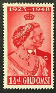 GOLDEN COAST Sc#142 1948 Siver Wedding Anniversary Mint NH OG VF/XF (9-181)