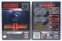 Mortal Kombat II 2 - Super Nintendo SNES Custom Case *NO GAME*