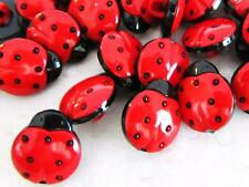 20 Cute Kid Plastic Sewing Shank Back Button 14mm/Trim/Sew/Girl/Red Sb84-Ladybug