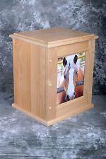 Equine Urn w/photo folder large capacity.